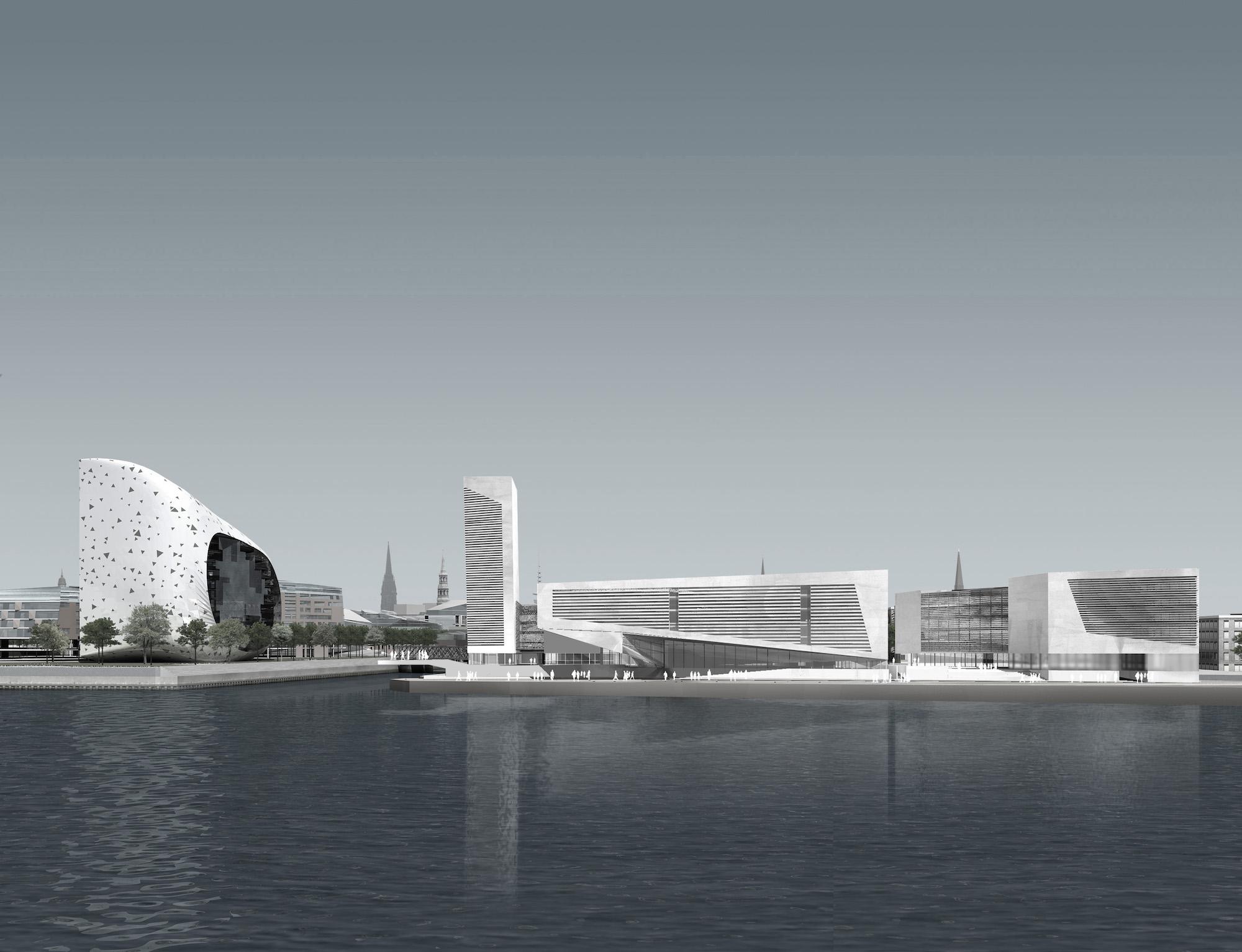 hcu _ wettbewerb hafen city universität, hamburg – gnosa architekten, Innenarchitektur ideen